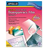 Apollo Transparency Film for Inkjet Printers, for Hewlett-Packard, 50 Sheets/Pack (VCG7031S)