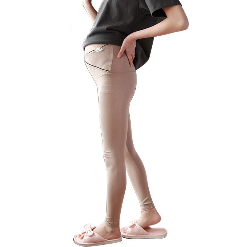 9c167605bd58d Pregnant Women Stretchy Pants Maternity Post-Partum Skinny Ankle Leggings  (Camel, Large)