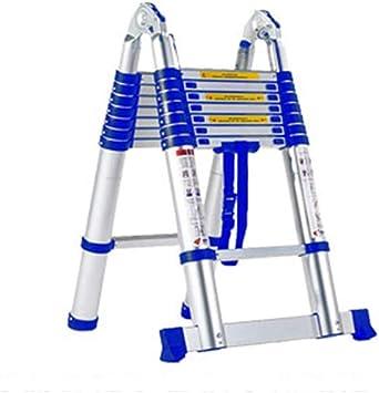 Extensibles Escalera de extensión portátil Escalera multifunción Escalera de aleación de aluminio Escalera de ingeniería Escalera de ático telescópica (Size : 2.2m+2.2m=straight 4.4m): Amazon.es: Bricolaje y herramientas