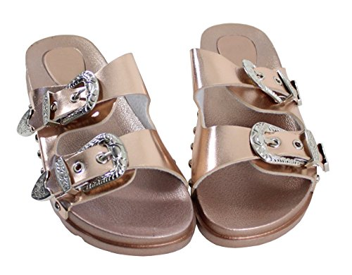 Shoes Gold Mujer by Zuecos para Rose HaX1w