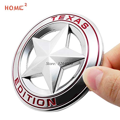 Tamiko - Car Stickers for TEXAS EDITION Star Logo Metal Badge Auto Emblem Decals Accessories for JEEP Cherokee Compass Liberty -