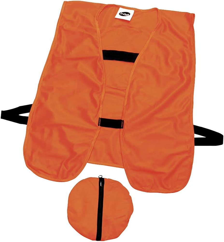 One Size Economical Stay Visible 2 Blaze Orange Hunting Vests Quick Ship