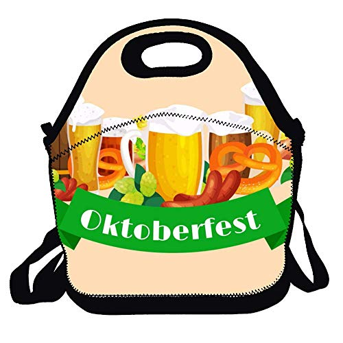 Lunch Tote Bag Portable Picnic Lunch Box Lunch Pouch German Beer Stein
