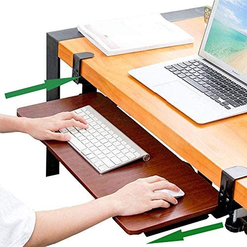 Wearson Desk Extender Ergonomics Clamp On Keyboard Tray Black WS-K6