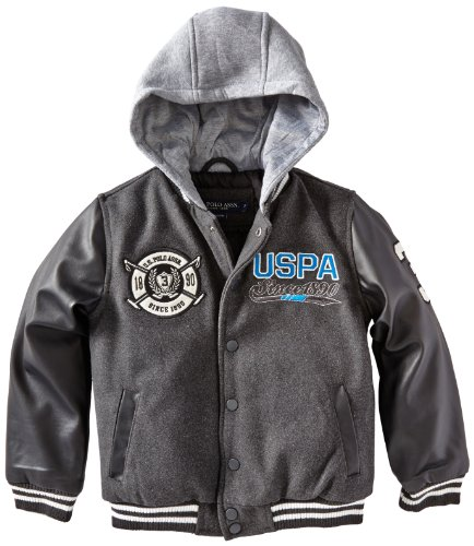 U.S. Polo Assn. Little Boys Comfort Varsity Jacket With A...
