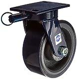 RWM Casters 75-UIR-0830-S-SL 75 Series 10-1/8'' High, 8'' Urethane on Iron Wheel with Swivel Lock, Swivel Caster