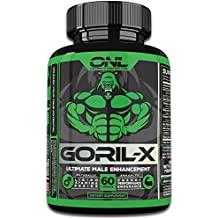 GORIL-X Male Enhancement Pills (60 Capsules) #1 Enlargement Formula! Increase Size - Extra Strength Horny Goat Weed - All Natural Enhancing - Huge Man - Larger, Thicker, Enhance Energy Performance!