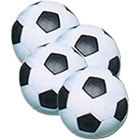 Fat Cat Foosball/Soccer Game Table Soccer Balls: 36 mm Regulation Size Foosballs, Black/White, 4 Pack