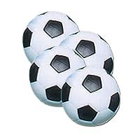 Fat Cat futbolín/fútbol juego de mesa de fútbol bolas: 36mm tamaño regulación de futbolín, color negro/blanco, paquete de 4