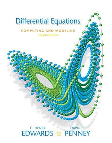 Differential Equations Computing and Modeling (4th Edition)