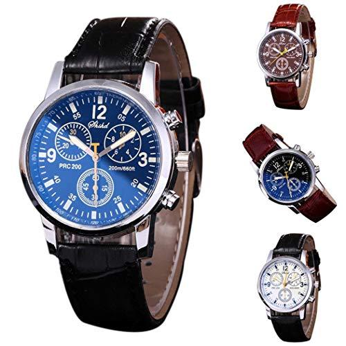 Aelove Women Fashion Artificial Leather Round Quartz Buckle Clasp Wristwatch Wrist Watches