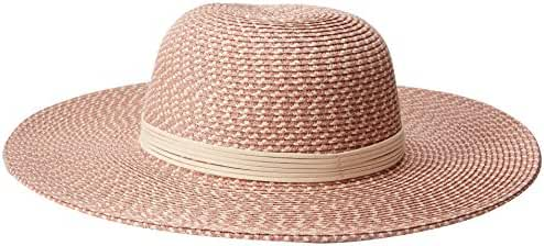 Collection XIIX Women's Shine and Tweed Straw Floppy Hat