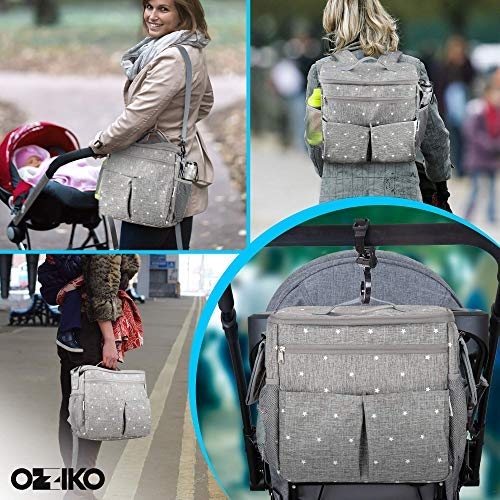 Parents Stroller Organizer Bag - Fits All Baby Stroller Models. Travel Bag with Shoulder Strap for Carrying Bottles, Diapers, Toys & Snacks. Insulated Cooling System, Cup Holder & Storage Pockets by Ozziko (Image #5)