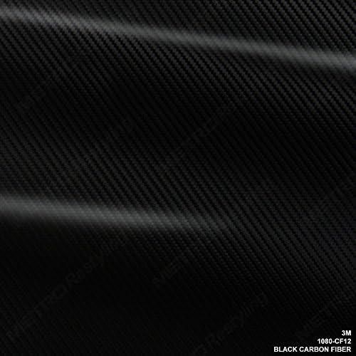 3M 1080 Black Carbon Fiber 1ft x 5ft Vinyl Car Wrap With 3M Tool Kit