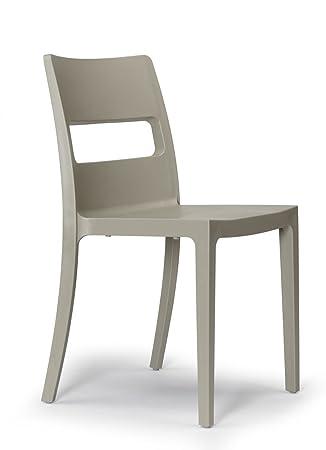 Sedia SAI set 6 sedie - Tortora: Amazon.it: Casa e cucina