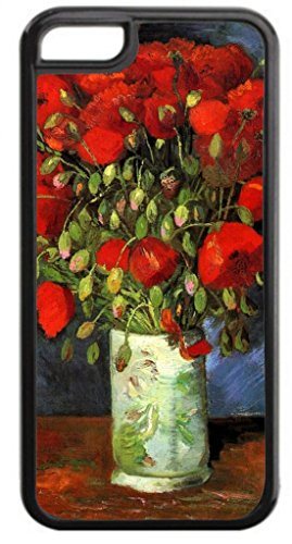 (Claude Monet's Vase of Poppies - Case for The Apple iPhone 6 Plus ONLY-Soft Black Rubber Outer Case)