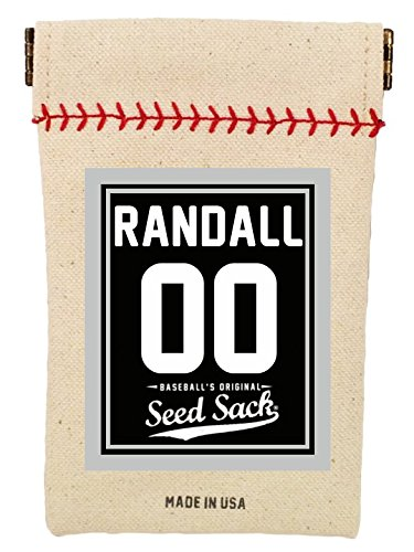 Baseball's Customized Seed Sack (Black) for Sunflower Seeds (Includes 6 Ounces of Seeds) Fits in Your Back Pocket. Take it on The - Seed Pouch