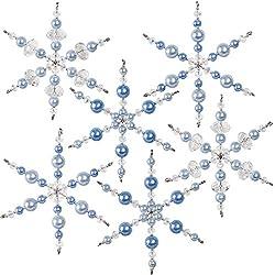 Crystal Blue Snowflakes Ornament Kit
