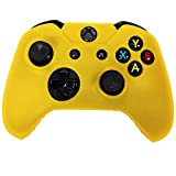 HDE Silicone Gel Rubber Protective Skin Grip for Xbox One Wireless Game Pad Controllers (Orange)