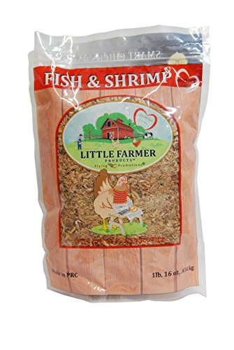 LITTLE FARMER PRODUCTS Fish & Shrimp | Dried River Shrimp & Minnow Fish | Omega 3, Calcium, Protein Packed | Premium Poultry Chicken Duck Treat (1)