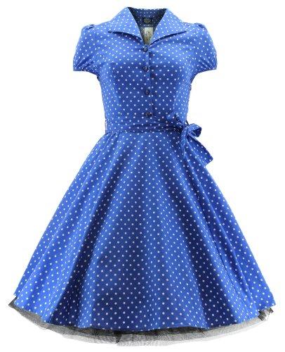 H r & london taille robe robe dOT 6839 Bleu