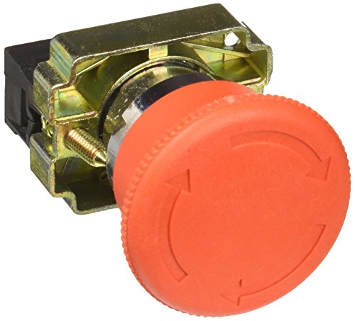 Uxcell a12082000ux0309 NC Red Mushroom Emergency Stop Push Button Switch, 22 mm, 600V, 10 Amp, ZB2-BE102C (Switch Push Button Stop)