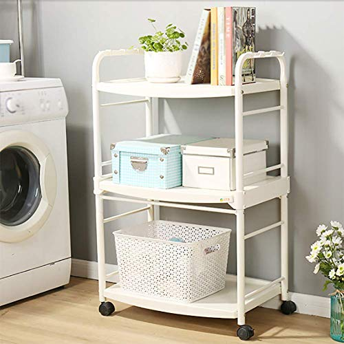 Kitchen Cart Plastic Multi-Layer, Storage Rack with Wheel Cart for Living Room Bathroom, Kitchen Household Items for Various Things by Kitchen Cart (Image #5)