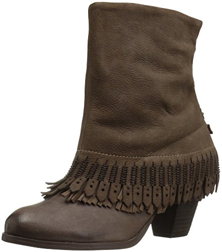 Naughty Monkey Women's Swing Low Ankle Bootie, Taupe, 8 M US - Naughty Monkey Shoes Com