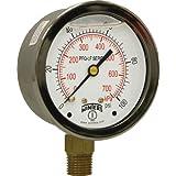 Winters PFQ804LF PFQ-LF Series Pressure Gauge, 2.5