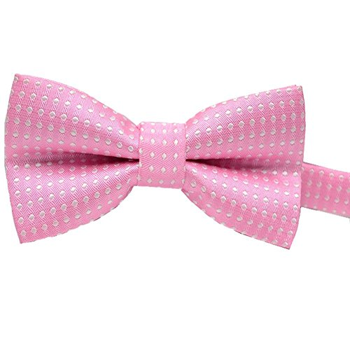 Pet Bow Tie, VICTHY Colorful Polka Dots Adorable Collar Butterfly Knot Puppy Adjustable Bow Ties for Dogs/Cats/Other Pets Pink ()