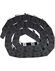 Energieketting, sleepketting, zwarte kabeldragerketting, geneste 18 x 50 mm, sleepketting, draaddrager