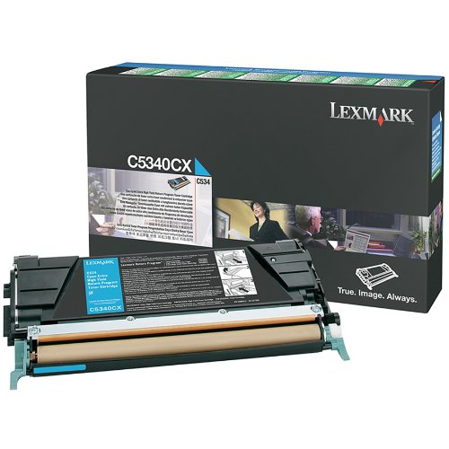 Lexmark C534N Cyan Extra High Yield Return Program Toner Cartridge (7K), Office Central