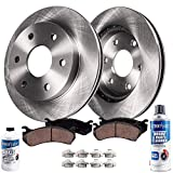 Detroit Axle - 6LUG Front Brake Kit Rotors w/Ceramic Pads w/Hardware & Brake Kit Cleaner & Fluid for 2010 2011 2012 2013 2014 2015 2016 20017 2018 Ford Expedition/Ford F-150/ Lincoln Navigator