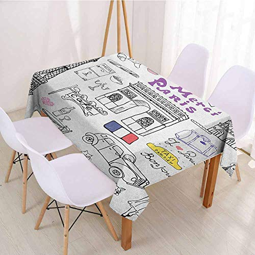 ScottDecor Rectangular Polyester Tablecloth Fabric Tablecloth W 50