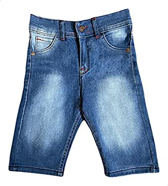 Marty Mode Side-Pocket Front-Button Denim Shorts for Boys