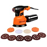EnerTwist 5-Inch Random Orbit Sander 12000 OPM 6 Variable Speed with 6 Disc Sandpaper and 4 Polisher Attachment Kit for Wood Metal Paint Sanding in Home Decoration, ET-OS-280 For Sale