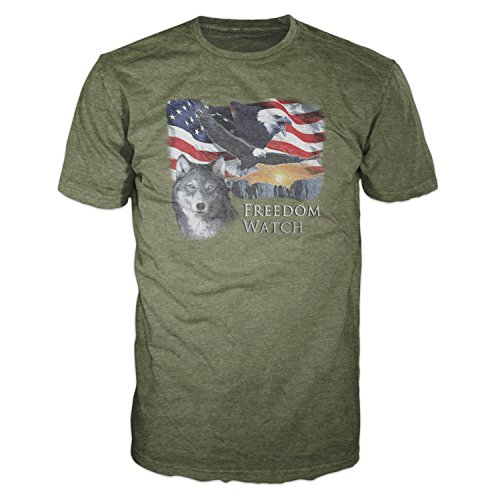 5 Star USA America Men's Graphic T-Shirt - American Flag, Patriotic, Vintage, Military, Americana Collection (Regular, Big and Tall Sizes) America Flag Patriotic Usa T-shirt