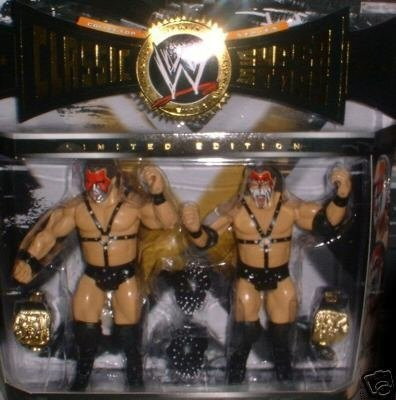 WWE Classic Superstars Demolition Ax & Smash WWF Tag Team Champions w/ Belts 2-Pack Action Figures Collectors Set
