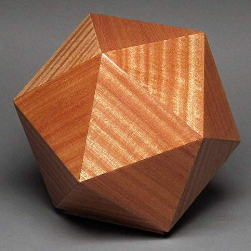 Wood Ash Stripe (Adult Human Cremation Urn, Ribbon Sapele, 225 cubic inches)