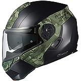 オージーケーカブト(OGK KABUTO)バイクヘルメット システム KAZAMI CAMO(カモ) フラットブラック/グリーン (サイズ:L) 576462