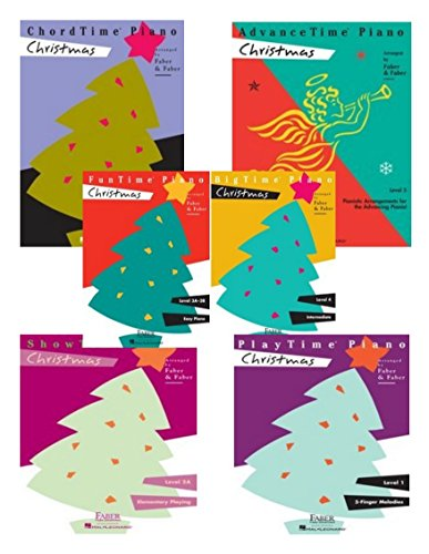 FunTime Christmas Level 3A-3B/ChordTime Christmas Level 2B/PlayTime Christmas Level 1/ShowTime Christmas Level 2A/BigTime Christmas Level 4/AdvanceTime Christmas Level 5. SIX BOOKS IN ONE. 1988