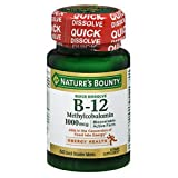 Nature's Bounty B-12 1000 mcg Microlozenges 60 ea (Pack of 6)