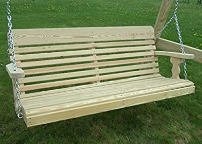 5 Foot Pressure Treated Pine Designs Unfinished Outdoor Classic Porch Swing