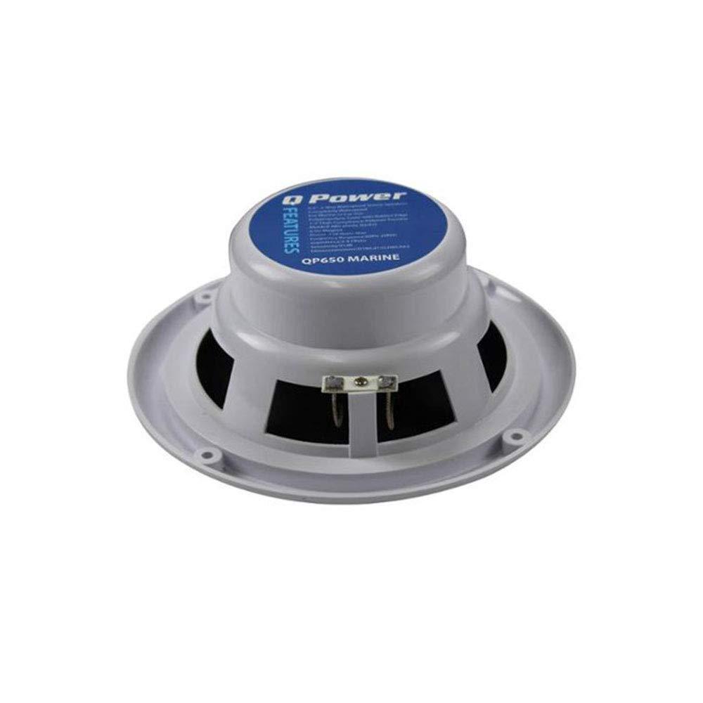 Q Power MARINE 6.5インチ 防水マリン、ボート、カースピーカー 120W ホワイト   B07GK96GPX