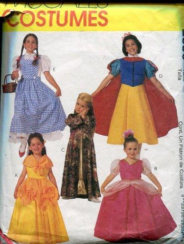 McCall's Costumes Pattern #2850 ~ Snow White ~ Dorothy of Oz ~ Princess ~ Arabian Girl ~ Shepherdess ~ Girl's Size (Shepherdess Costume)