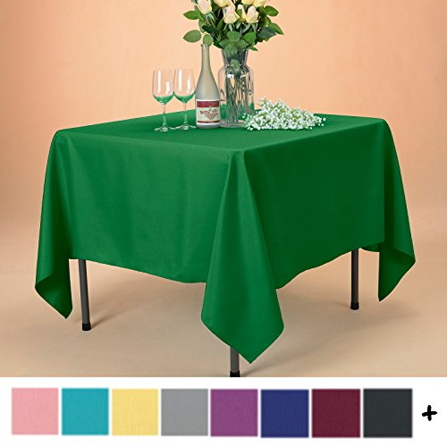 Remedios Tablecloth 70-inch Square Polyester Table Cover - Wedding Restaurant Party Banquet Decoration, Green
