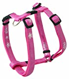 Rogz Pupz Zing Adjustable Zip Zap Puppy H-Harness, Small .375-Inches, Pink Bling Design, My Pet Supplies