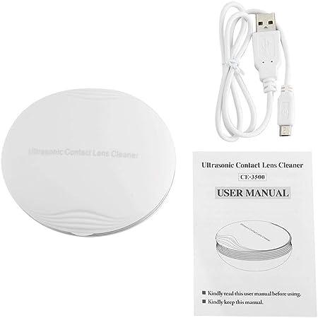 Limpiador de lentes de contacto, vibración de microondas Lente de contacto Limpiador automático Estuche de limpieza de ojos con cable de alimentación USB Compacto y portátil Fácil de transportar(#1): Amazon.es: Hogar