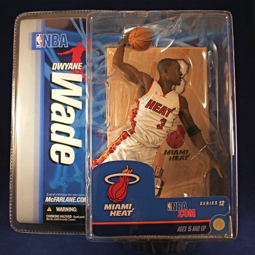 HEAT * WHITE JERSEY * McFarlane 6 Inch NBA Series 12 Sports Picks Action Figure ()