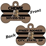 uDesignUSA Disney Star Wars Double Sided Pet Id Dog Tag Personalized w/4 lines of Text (Chewbacca)